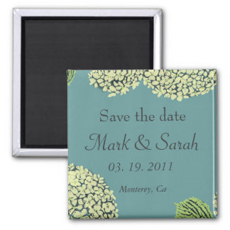 Save the Date Blue Hydrangea Magnet