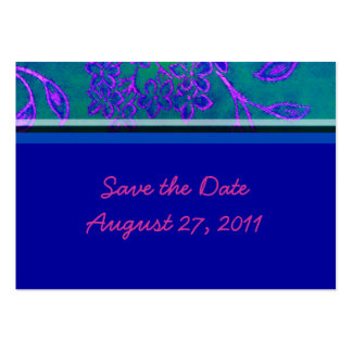 Save the date - Blue Large Business Cards (Pack Of 100)