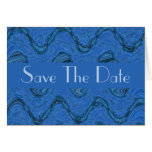 Save the Date blue pattern Stationery Note Card