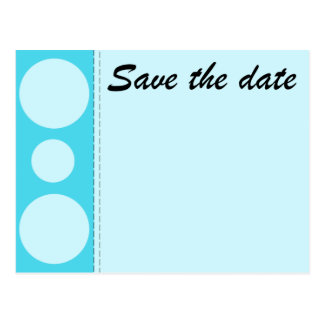 SAVE THE DATE (blues) cirlces Postcard
