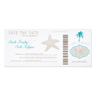 Save the Date Boarding Pass Card
