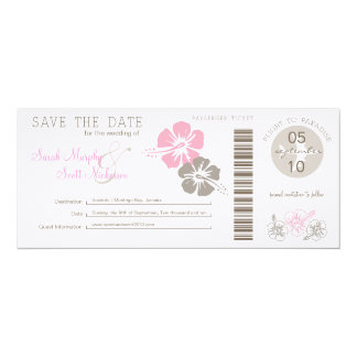Save the Date Boarding Pass Custom Invites