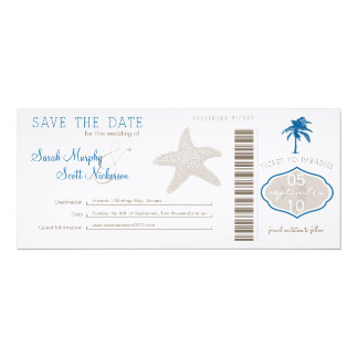 Save the Date Boarding Pass Custom Invite