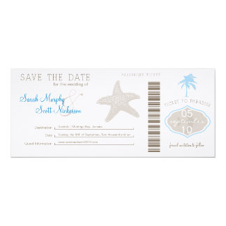 Save the Date Boarding Pass Invitations