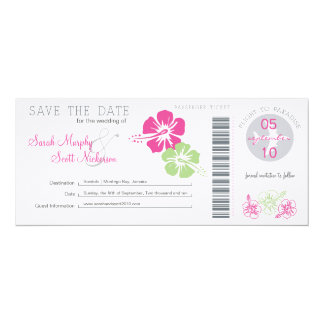 Save the Date Boarding Pass Personalized Announcement