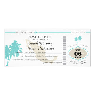 Boarding Pass Invitations & Announcements | Zazzle