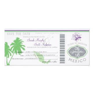 Save the Date Boarding Pass to Mexico Invites