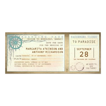 jinaiji save the date boarding pass-vintage tickets card