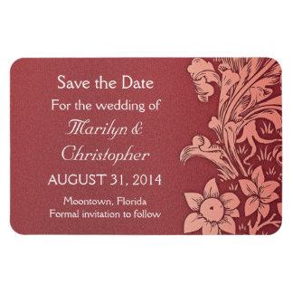 save the date Bordeaux elegant magnet