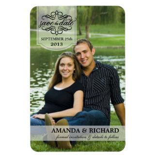 Save the Date - Borderless Custom Photo Magnets