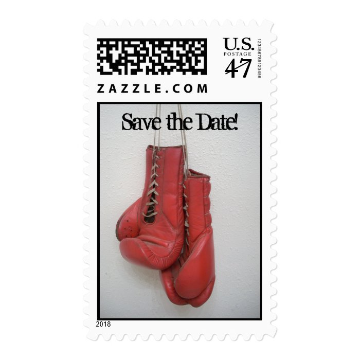 Save the Date! Boxing Gloves Book of Stamps