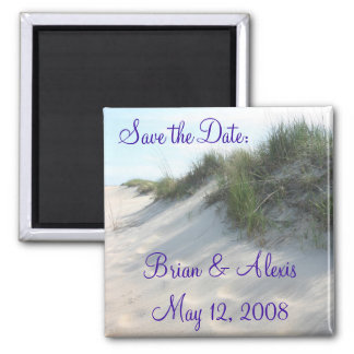 Save the Date:, Brian & AlexisMay 12, 2008 2 Inch Square Magnet