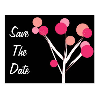 Save The Date Bridal Blossom Postcard