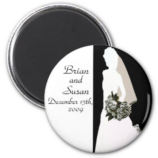 Save the Date Bridal Shower Magnet