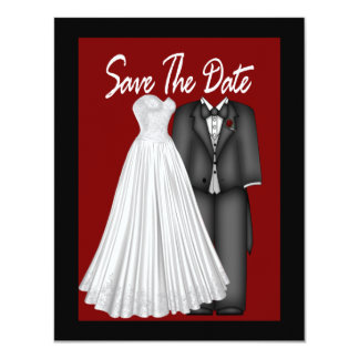 Save The Date Bride and Groom Card
