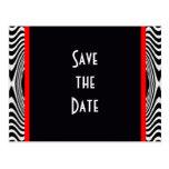 Save the Date Bride and Groom Elegant Vintage Postcard