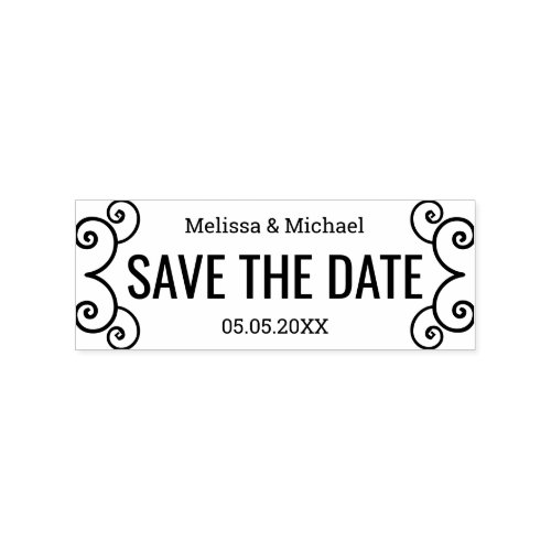 Save The Date Bride And Groom Rubber Stamp