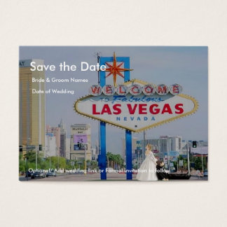 Save the Date, Bride drags Groom LV Chubby  Cards