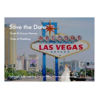 Save the Date, Bride drags Groom LV Chubby  Cards Business Card Template