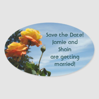 Save the Date! Bride Groom getting married seals