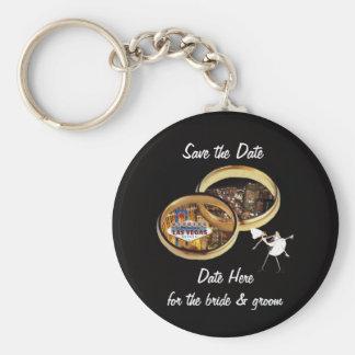 Save the Date Bride & Groom Las Vegas Keychain