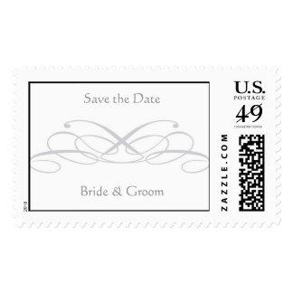 Save the Date, Bride & Groom Postage Stamp