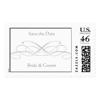 Save the Date, Bride & Groom Stamps