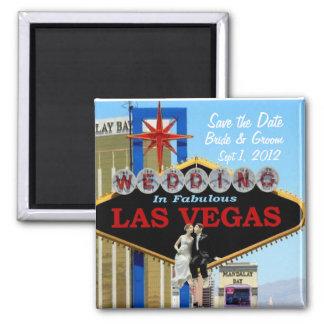 Save the Date Bride & Groom Wedding In Las Vegas M Refrigerator Magnet
