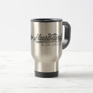 Save The Date Bride's Husband Wedding Travel Mug