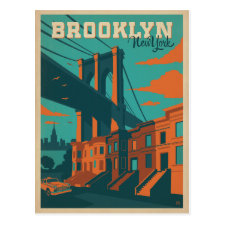 Save the Date | Brooklyn, NY Postcard