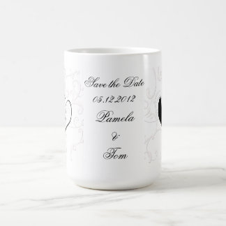 Save the Date broom and Bride Coffee Mug
