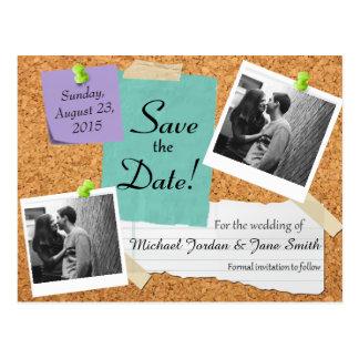 Save the Date- Bulletin Board Postcard