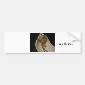 Save the Date Bumper Sticker