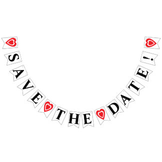 SAVE THE DATE BUNTING FLAGS