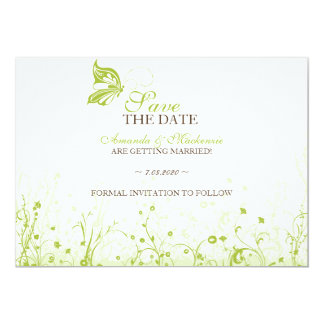 Save the date ~ Butterfly Garden 10 Card