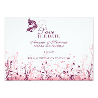 Save the date ~ Butterfly Garden 3 Card