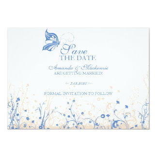 Save the date ~ Butterfly Garden 4 Card