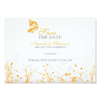 Save the date ~ Butterfly Garden 8 Card