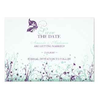 Save the date ~ Butterfly Garden 9 Card