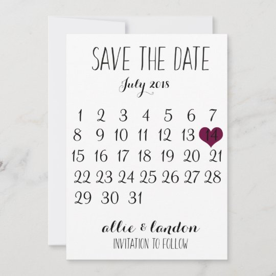 d15eca343f438 Save The Date Calendar