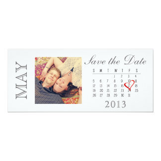 Save the Date Calendar: May 2013 Card