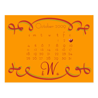Save the Date Calendar Post Cards