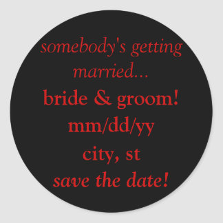 save the date calendar stickers (wedding)