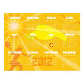 Save the date calendar -  tennis postcard