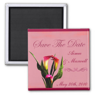 Save The Date - Calla Lilies Magnet