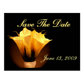 Save the date calla lilies postcard
