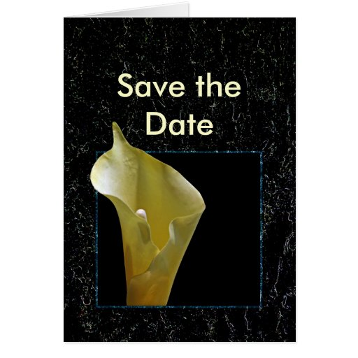 Save the Date Calla Lily Card