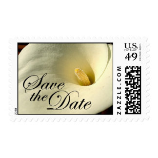 Save the Date - Calla Lily Postage