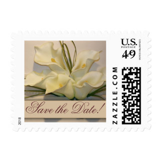 Save the date Calla Lily Postage Stamps