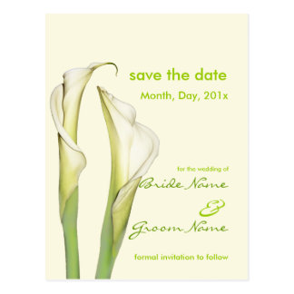 Save the Date, calla lily postcards